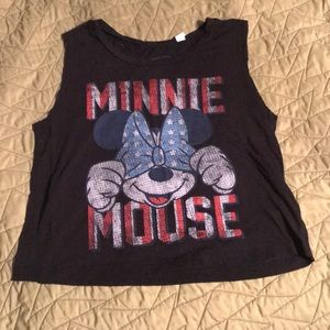 4th of July Americana Minnie Mouse cropped tank